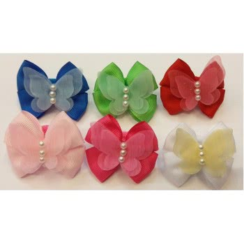 LA FOLLIE Λαστιχάκι Μαλλιών Πεταλούδα - 6 Χρώματα 01037-1 5202703021787