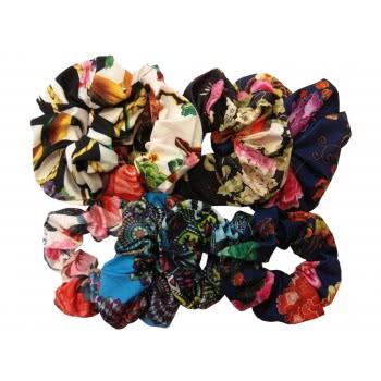 LA FOLLIE Λάστιχο Μαλλιών Εμπριμέ Λουλούδια - 6 Χρώματα 11142 5202702045227