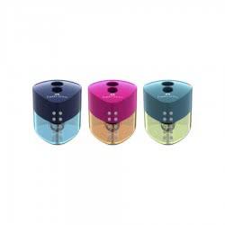 Faber-Castell Ξύστρα Διπλή - 3 Χρώματα 182448 6933256640581