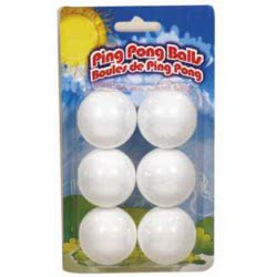 ZANNA toys Ping Pong Balls Μπαλάκια Πινκ Πονκ - 6 Τεμάχια 13310 6823582133102