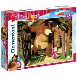Clementoni Παζλ 24Τεμ MAXI Masha And The Bear 1200-24032 8005125240326