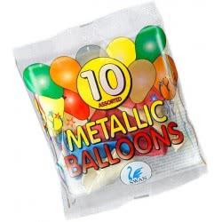SWAN Metallic Balloons 10 Pieces 210046 5201582210046