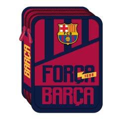 Diakakis imports Barcelona Pencil Case 2 Compartments Full 15X5x21cm 000170694 5205698429613