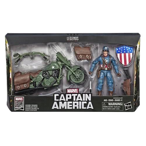 Hasbro Marvel Legends Series Captain America Φιγούρα Με Μοτοσυκλέτα E3498 / E4704 5010993603718