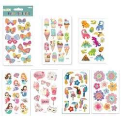 OEM Foil Stickers Foam Glitter 10X16 Cm - 7 Designs Δ024 4718167387006