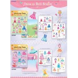 OEM Dress Up Doll Stickers Αυτοκόλλητα - 4 Σχέδια Δ039 4718167027001