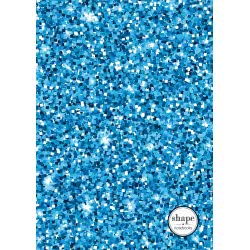 shape notebooks Notebook Spiral 3 Subjects B5 Glitter 17X24 Cm - 5 Colours GLITTERB53 5200399803373