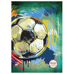 shape notebooks Notebook Spiral 2 Subjects B5 Sports 17X24 Cm - 5 Designs SPORTSB52 5200399803816