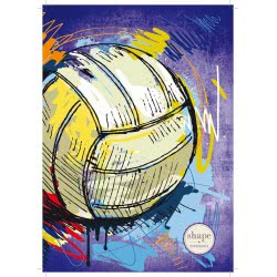 shape notebooks Notebook Spiral 3 Subjects A4 Sports 21X27.9 Cm - 5 Colours SPORTSA43 5200399803861