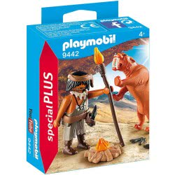 Playmobil Special Plus Caveman With Sabertooth Tiger 9442 4008789094421