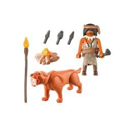 Playmobil Special Plus Caveman With Sabertooth Tiger 9442 4008789094421