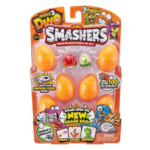 ZURU Smashers Smash Ball Series 3 Dino 8 Pack 23554 193052001894