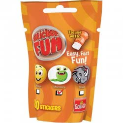 Goliath Sticker Fun Refill Smileys, Monsters Or Streets Orange 23547 8711808355071