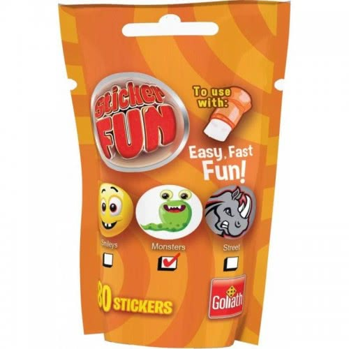 Goliath Sticker Fun Ανταλλακτικό Smileys, Monsters Or Streets - Πορτοκαλί 23547 8711808355071