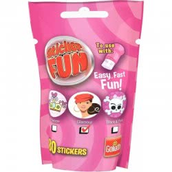 Goliath Sticker Fun Refill Princess, Fashion Or Black And Pink - Pink 23547 8711808355095