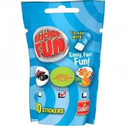 Goliath Sticker Fun Refill Vehicles, Dinosaurs Or Dragons - Blue 23547 8711808355101