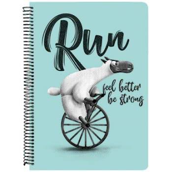 A&G PAPER Run Feel Better Be Strong Spiral Notebook A4 21Χ29.7 Cm 4 Subjects - 5 Designs 032077 5203296320776