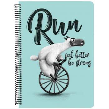A&G PAPER Run Feel Better Be Strong Notebook A4 21Χ29.7 Cm 3 Subjects - 5 Designs 032076 5203296320769