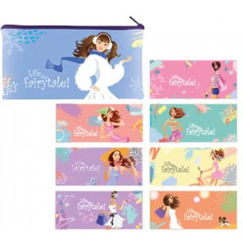 A&G PAPER Life Like A Fairytale Plastic Pencil Case With Zipper - 8 Designs 032024 5205616320244