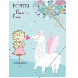 A&G PAPER Pepitta Llama Love PP A4 Folder With Elastic Bands 032018 5205616320183