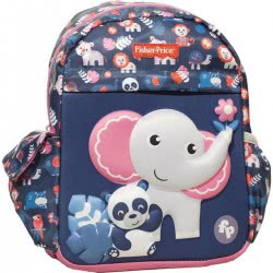 GIM Fisher-Price Elephant And Panda Junior Kindergarten Backpack 349-01054 5204549123410