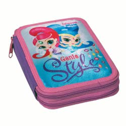 GIM Shimmer And Shine Magical Genie Style Pencil Case Double Full 334-46100 5204549118652