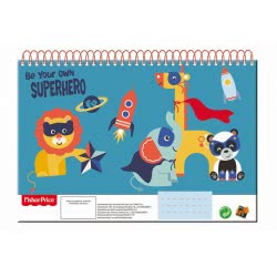 GIM Fisher-Price Be Your Own Superhero Sketch Book Α4 30 Sheets 349-03413 5204549117433