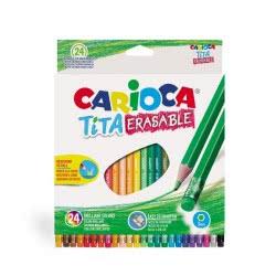 CARIOCA Tita Erasable Colored Pencils 24 Pieces 42938 8003511429386
