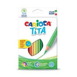 CARIOCA Tita Colored Pencils Ξυλομπογιές 18 Χρωμάτων 42827 8003511428273