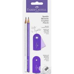 Faber-Castell Sparkle Pencil Set - Lilac White 218475 4005402184750