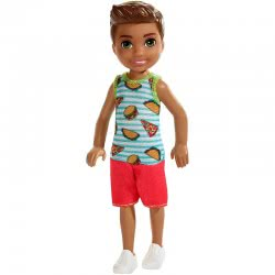 Mattel Barbie Club Chelsea: Μελαχρινό Αγοράκι Με Μπλουζάκι Σάντουϊτς DWJ33 / FXG78 887961691016