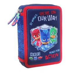 Diakakis imports PJ Masks We Are On Our Way 3D Pencil Case Double Filled 000484133 5205698420733