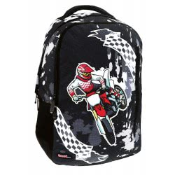 MUST Primary School Backpack Morotcycle With 3 Compartments  000579522 5205698424052