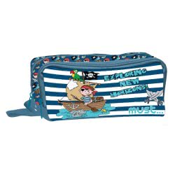 MUST Exploring New Horizons Pencil Case With 2 Zippers - Blue 000579531 5205698426261