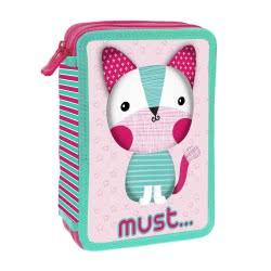 MUST Kitty 3D Κασετίνα Διπλή Γεμάτη Γατούλα - Ροζ 000579679 5205698443152