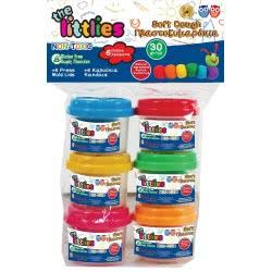 Diakakis imports The Littlies Soft Dough Πλαστοζυμαράκια 6 Χρώματα 000646642 5205698443169