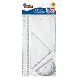 Diakakis imports The Littlies Ruler Set Γεωμετρικό Σετ 4 Τεμαχίων 30 Cm 000646119 5205698420191