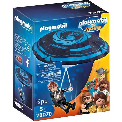Playmobil The Movie Rex Dasher With Parachute 70070 4008789700704