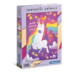 Clementoni Fantastic Animals Unicorn Puzzle 500 Pieces 1260-35066 8005125350667