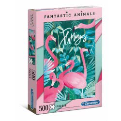 Clementoni Fantastic Animals Flamingo Puzzle 500 Pieces 1260-35067 8005125350674
