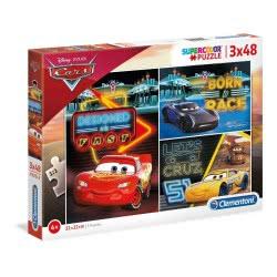 Clementoni Supercolor Cars 3 Puzzle 3X48 Pieces 1200-25235 8005125252350