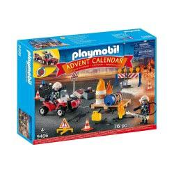 Playmobil Advent Calendar Χριστουγεννιάτικο Ημερολόγιο - Επιχείρηση Πυρόσβεσης Εργοταξίου 9486 4008789094865