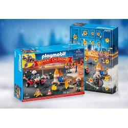 Playmobil Advent Calendar Construction Site Fire Rescue 9486 4008789094865