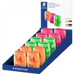STAEDTLER Double Sharpener Neon - 3 Colours 04-04-0623 4007817050507