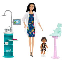 Mattel Barbie Dentist Set Playset DHB63 / FXP17 887961697049