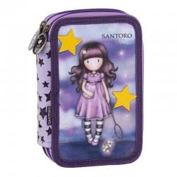 Santoro London Gorjuss Catch A Falling Star Pencil Case Full 197332 5202860973325