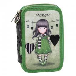 Santoro London Gorjuss The Scarf Pencil Case Double 197334 5202860973349