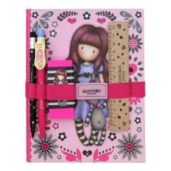 Santoro London Gorjuss Fiesta Notebook Σχολικό Σετ Με Σημειωματάριο - My Gift To You 602GJ07 5018997626788