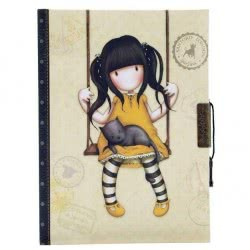 Santoro London Gorjuss Vacation Lockable Notebook - Ruby ( Yellow ) 577GJ05 5018997616994