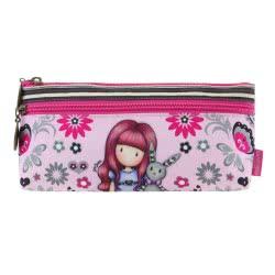 Santoro London Gorjuss Fiesta Zipped Pocket Pencil Case - My Gift To You 776GJ04 5018997626405